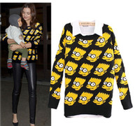 Wholesale New Cute Womens Ladies Girls Bart Simpson Jumper Pullover Sweater