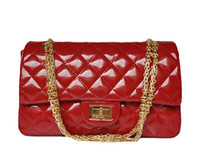 Wholesale Designer women handbags Luxury patent leather handbag hardware chain big discounted