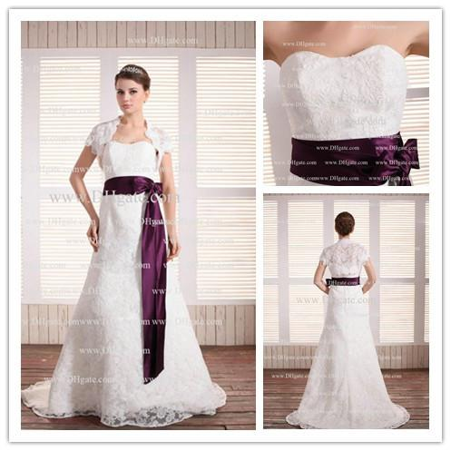 Interesting Two Tone Wedding Dress With Toned