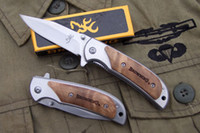 Wholesale Brand new Browning silver edition pocket folding blade hunting gift knife knives Top quality