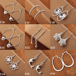 Cool Ladies jewelry 925 Silver Mix Styles Dangle Beautiful Earrings Stylish Earrings 40pairs mixed