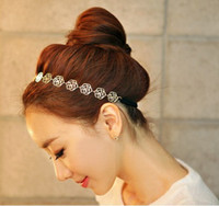 Wholesale 12pcs Vintage Metal rose hallow women Headband Hairband Hairwear Hair accessories F109