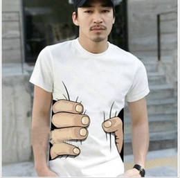 Wholesale NEW MAN SHORT SLEEVE Personalized amp Creative Cotton T Shirt Summer Tees