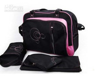 Canvas baby duffel bag - 4pcs Baby Kingdom Diaper Mummy Bags Nursery bag Nappy Bag Mummy Changing Shoulder bags bag