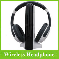Wholesale 4 In HIFI Wireless Headphone Wired Headset FM Radio For TV CD DVD Player PC Laptop MP3 MP4 Player