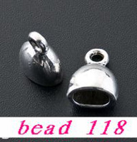 Wholesale 40 Tibetan Silver Cup Cord End Cap Stopper mmx13mm