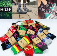Wholesale Don t miss HUF Plantlife Crew Socks men women cotton colors ski skateboard sports stockings