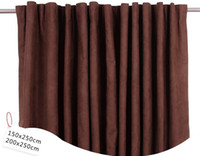 Wholesale pleated style door window curtain coffee color hook windows curtains thicken drop shipping