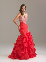 Wholesale Real Samples Custom Color Hot Sale Mermaid Organza Beaded Prom Evening Dresses Gown