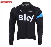 Wholesale cycling jersey sky long sleeve winter thermal fleece Cycling wear cycling bike Shirts Tops
