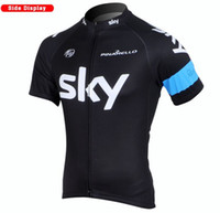 Wholesale Team Sky Jerseys Team cycling wear Shorts Sleeve Cycling Jerseys new sky Cycling Shirts