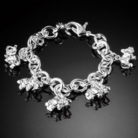 Wholesale 2013 Hot Sale Female Jewelry Charm Bracelets Silver Plated Elephant Bracelets SG