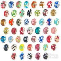 Wholesale 500pcs doule core glass beads tibetan silver pendant charms and mixed size bracelets