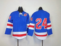 Wholesale Kids Blule Home C Patch Ice Hockey Winter Jerseys NY Authentic Sportswear Youth Jersey China