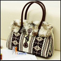 Wholesale New winter snow deer cute plush Korean women retro fur imitation fur bag bw1018