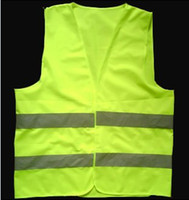 Cheap Green reflective safety vest coat Sanitation vest Traffic safety warning clothing factory supply