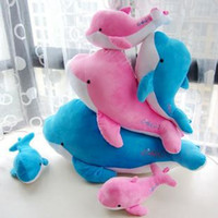 other Blue Unisex Plush toy dolphin Large doll ocean animal pillow gift hot-selling 30cm