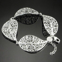 silver925 jewelry - 2013 Fashion Women s Bracelet Leaf Shape Charm Silver925 Jewelry Romantic Head Chain SG42