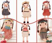 achat en gros de bébé angela poupée en peluche animale-Jouets 15 '' bébé Angela Peluche metoo Peluches six styles Lapin Poupées Peluches 2PC