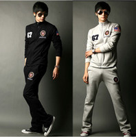 Wholesale Korean Men s Spring and Autumn embroidery leisure fashion sports suits