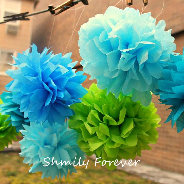Discount New 8'' FLUFFY Pom Pom DECORATIONS ~ Baby BRIDAL Shower