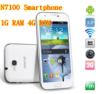 Wholesale Bluebo Android N7100 Note2 cell phone GB RAM MTK6577 dual core inch QHD phones MP