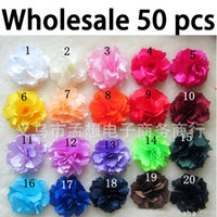 Wholesale quot Silky Rose Flower Hat Hair Clip Brooch Pin Colors Bridesmaid Hair Flowers