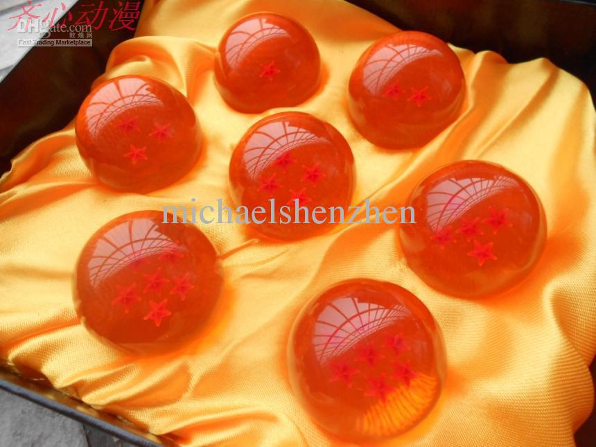 Buy animation dragonBall 7 stars crystal ball set new box dragon Z complete 4.5 CM A001