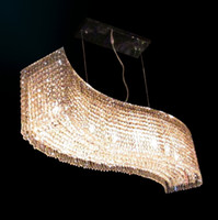 Wholesale top sales L115 W24 H28cm crystal chandeliers modern chandelier crystal lighting for d