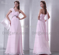 Wholesale Elegant exquisite glamorous with shoulder scarf ruffled shining sequins beaded bridesmaid dresses