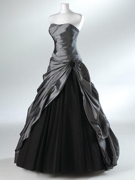 See larger image for Black and grey wedding dress