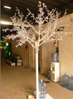 Wholesale 864pcs LEDs m Height LED Cherry Tree Lamp with White Trunk and Transparent leaves