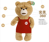 Wholesale Lovely Movie s Plush Teddy Bear with Apron quot Ted Bear X R Rated Plush animals Dolls stuffed toys