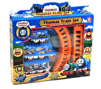 Wholesale Tthomas and friends homas train Track set Electric orbit path children toys Perfect gift