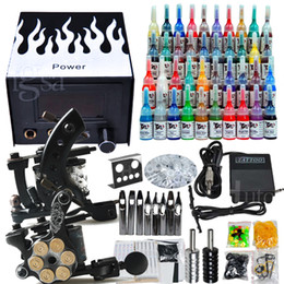 Wholesale USA Dispatch Professional complete cheap tattoo kits guns machines ink sets equipment power supply D238