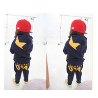 Boy kids sweat suits - Hottest Casual Korean Baby Kid Boy Outfit Sets Hoodie Sweat Suit Pants Cool Years YHBB
