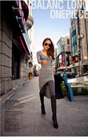 Wholesale NEW Dress night club fashion sexy dresses swallow tailed skirt Black Grey womens clothing ASYD107
