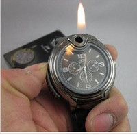 Wholesale Silver Watch Lighter Quartz Wrist Butane Cigarette Cigar electric watch