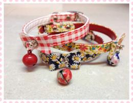 puppy dog pet collar bell leather mini dog collar cat product collars belts three designs