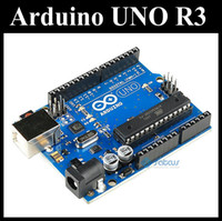 Wholesale 2012 NEW Arduino UNO R3 Board ATmega328 ATMEGA8U2 with USB cable