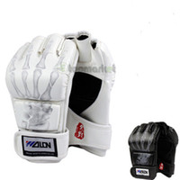Wholesale New MMA Boxing Gloves Sanda Muay Thai Training Fighting Mitts W8861 Two Colors