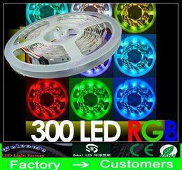 5M RGB 5050 SMD 300 LEDs Led Strip light Flexible non-waterproof CE ROSH