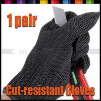 Wholesale Pair Professional Outdoor Working Self defense Knitted Anti cutting Cut resistant S