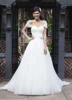 Wholesale Custom made New Sexy beautiful pageant dresses a line sweetheart strapless Wedding dress W640