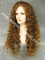 Wholesale 26 quot Extra Long Curly Lace Front Wig High Quality Fashion Lady Wigs
