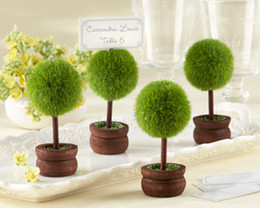 Topiary Wedding Photo Holder and Wedding Place Card Holder with matching card 24pcs lot For Wedding