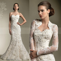 Wholesale 2013 Beautiful Three dimensional Flower Lace Wedding Dresses Tulle applique Bridal Gown Free jacket