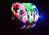 Wholesale Colorful LED flashing Tambourine light sways bell rattles kids toys Bars party supplies