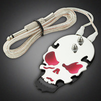 Wholesale NEW SKULL TATTOO POWER SUPPLY FOOTSWITCH FOOT PEDAL FLAT STAINLESS STEEL