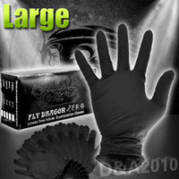 Wholesale 10 pair Large Sterile Black Nitrile Piercing disposable Tattoo Gloves Powder Latex Free WS067